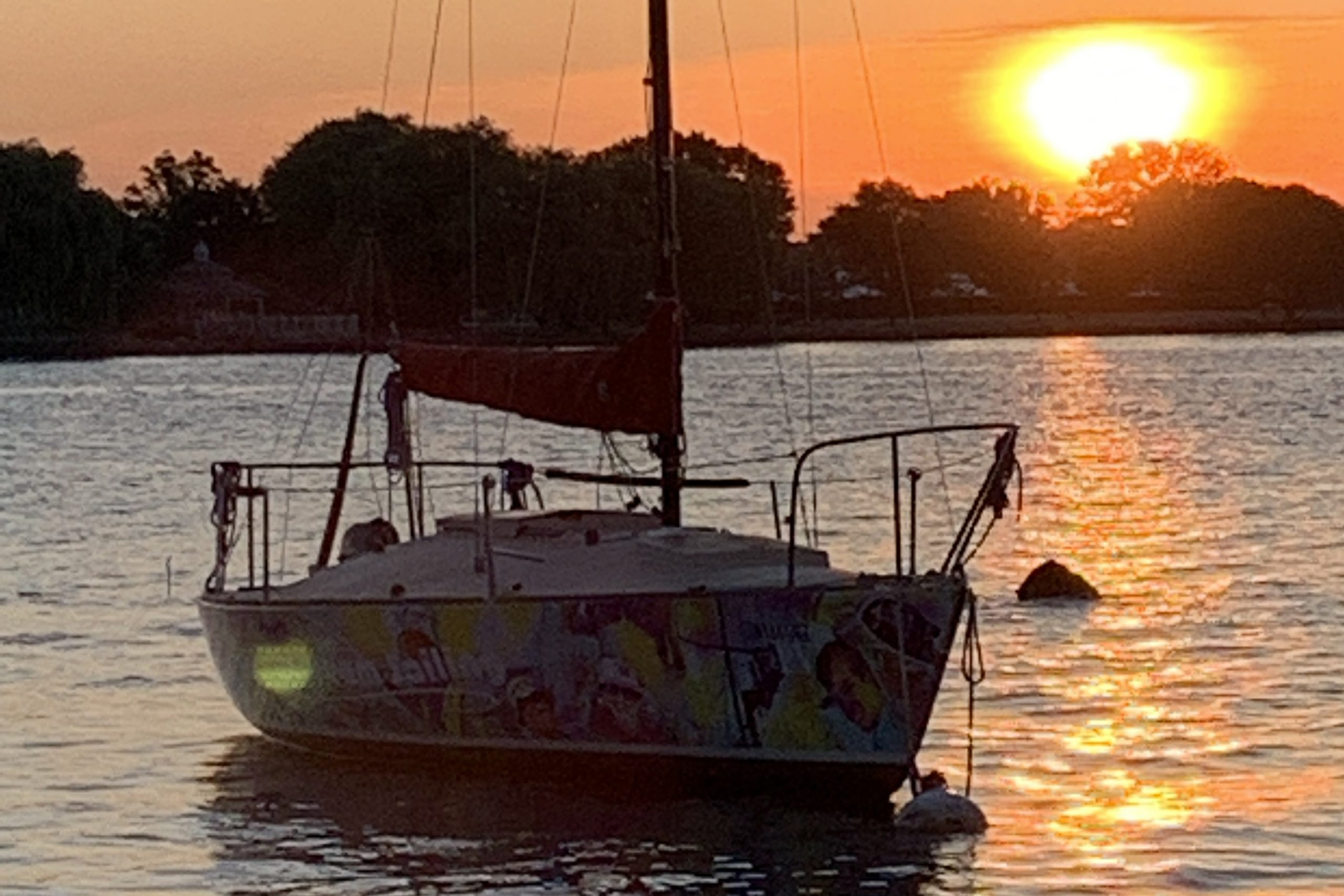 daydream sailing canandaigua boat at sunset