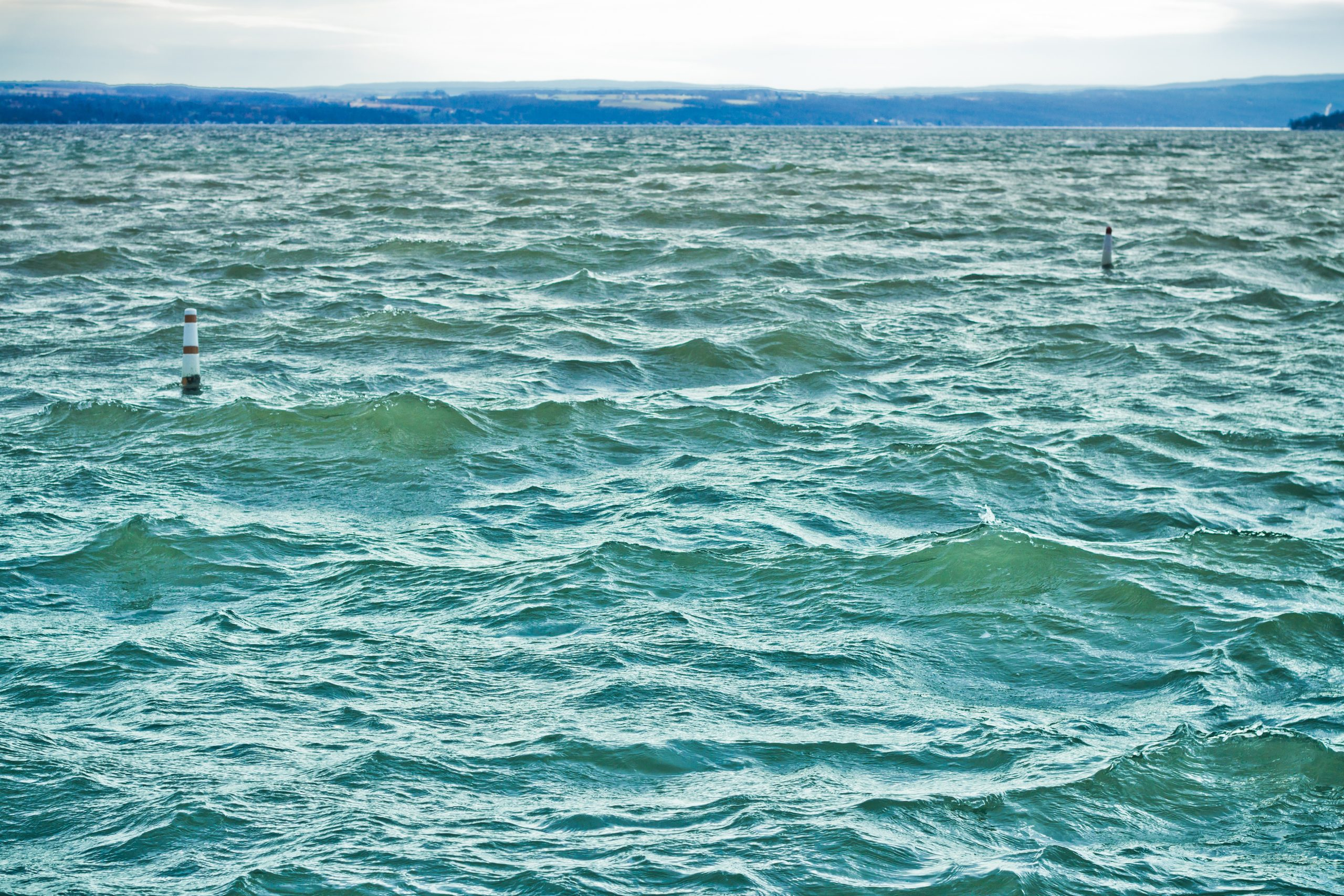 Daydream Sailing Rough waters on Canandaigua Lake, New York